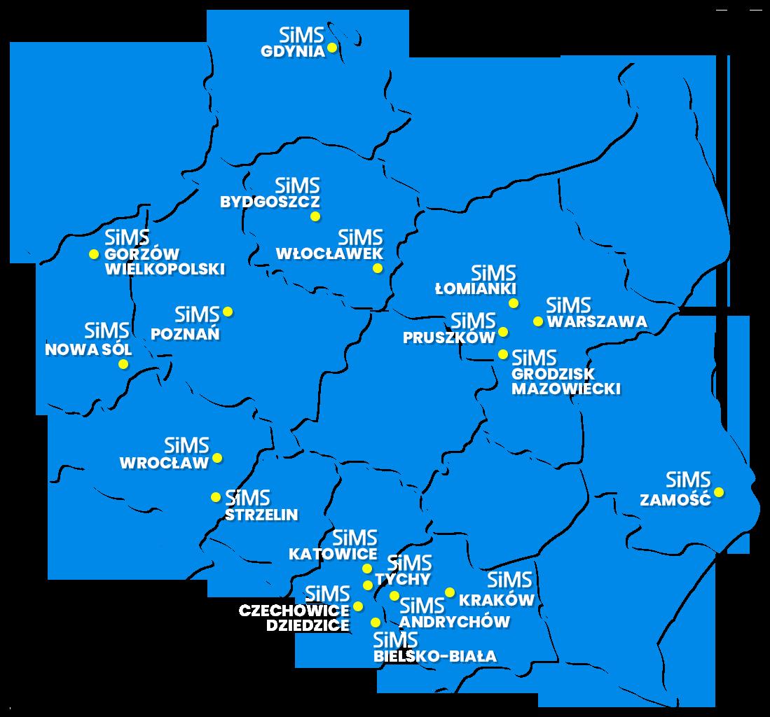 Mapa Projektów SIMS
